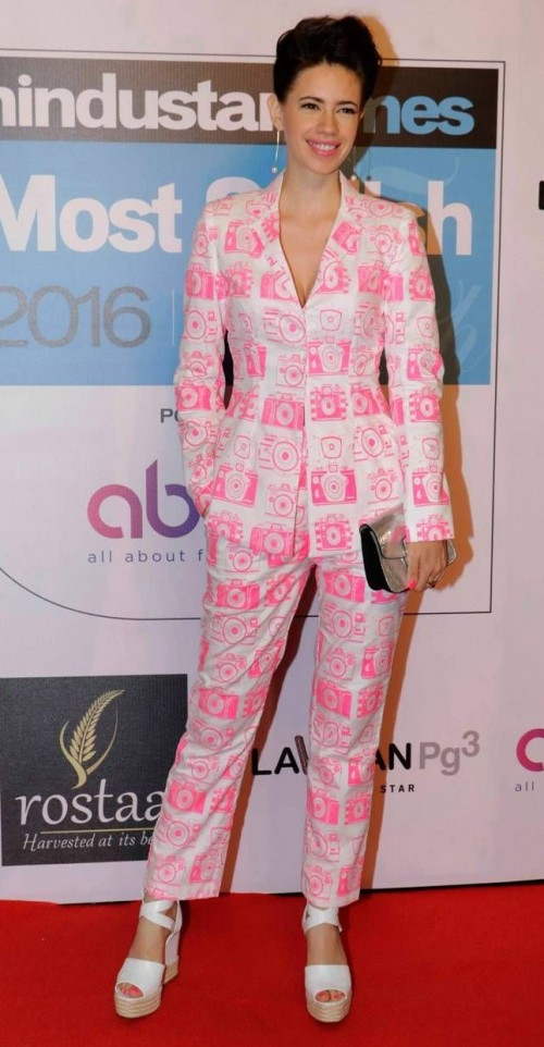 Want something similar to this quirky white and pink pantsuit that Kalki Koechlin is wearing - SeenIt