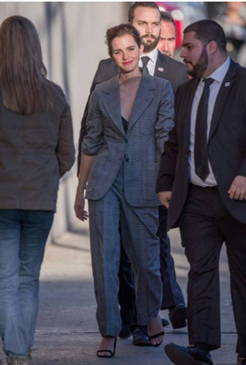 Yay or Nay? Emma Watson in this grey pantsuit - SeenIt