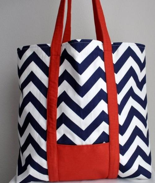 Looking for similar blue and white tote bags - SeenIt