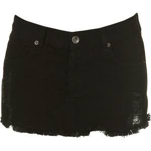Where can I get a ripped black denim shirt skirt like this one?Indian sites would be appreciated - SeenIt