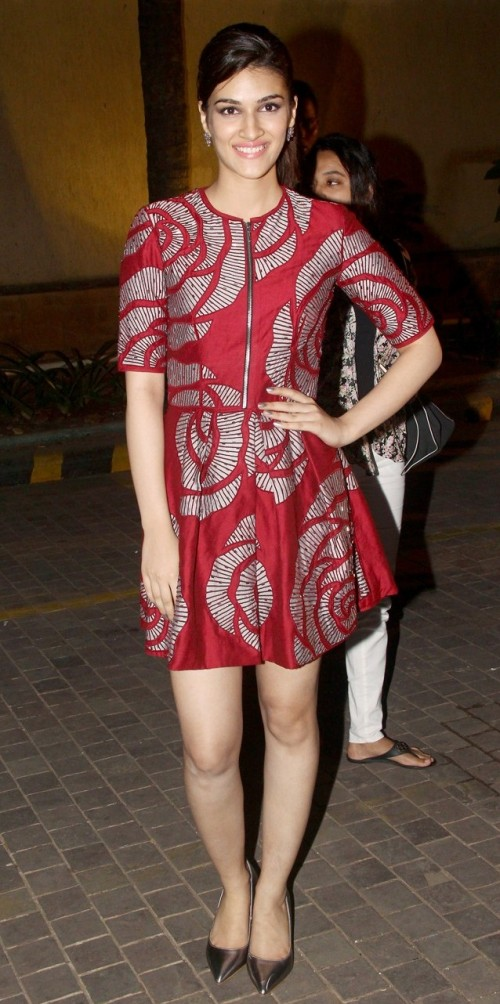 Looking for the red floral dress that Kriti Sanon is wearing - SeenIt