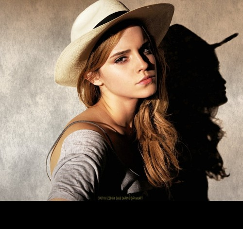 Help me find this beige fedora hat that Emma Watson is wearing. - SeenIt