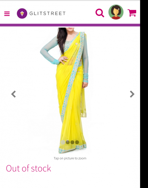 I want this yellow saare. Same to same. - SeenIt