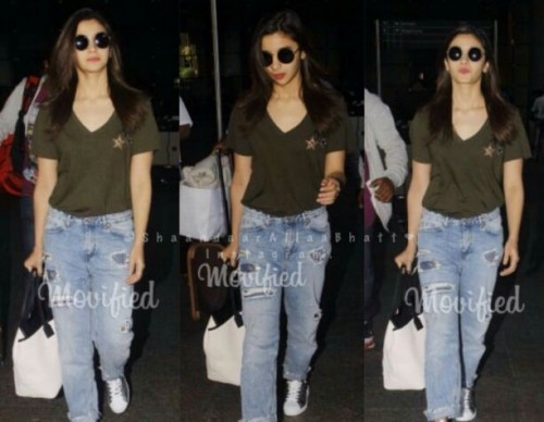 Want olive green top n denims - SeenIt