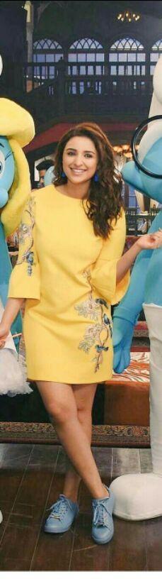 Want the yellow dress that Parineeti Chopra is wearing - SeenIt