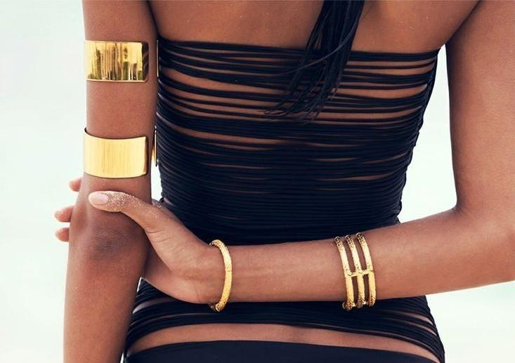 Gold arm cuffs. Similar to these. Indian websites only :) - SeenIt