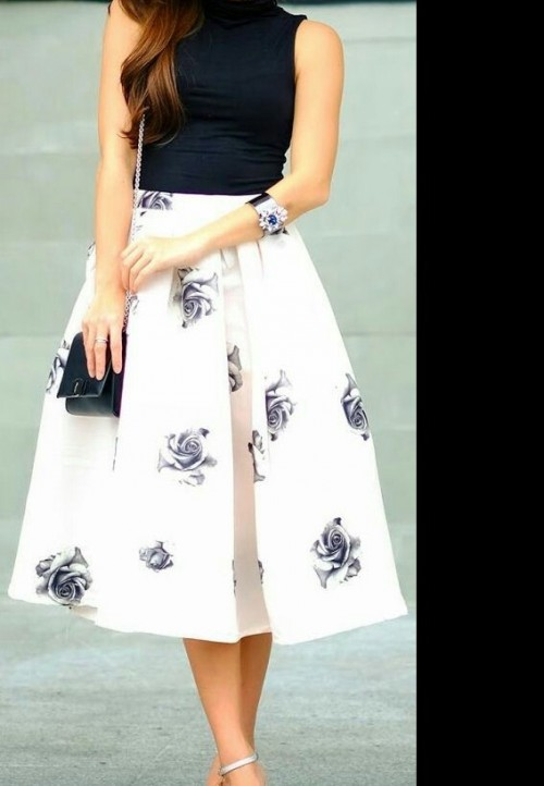 Need these midi  Floral skirts - SeenIt