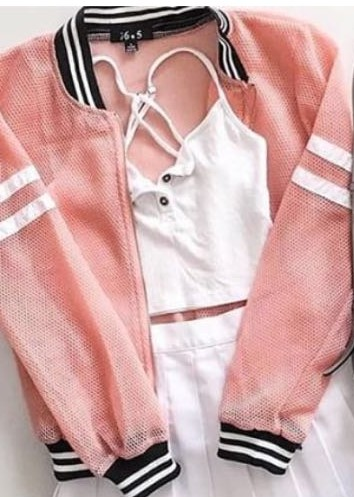 want a pink wind breaker jacket - SeenIt