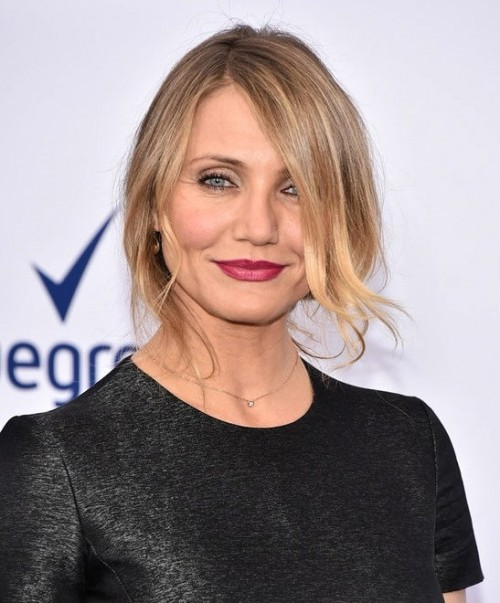 Want the exact red shade of lipstick that Cameron Diaz is wearing. - SeenIt