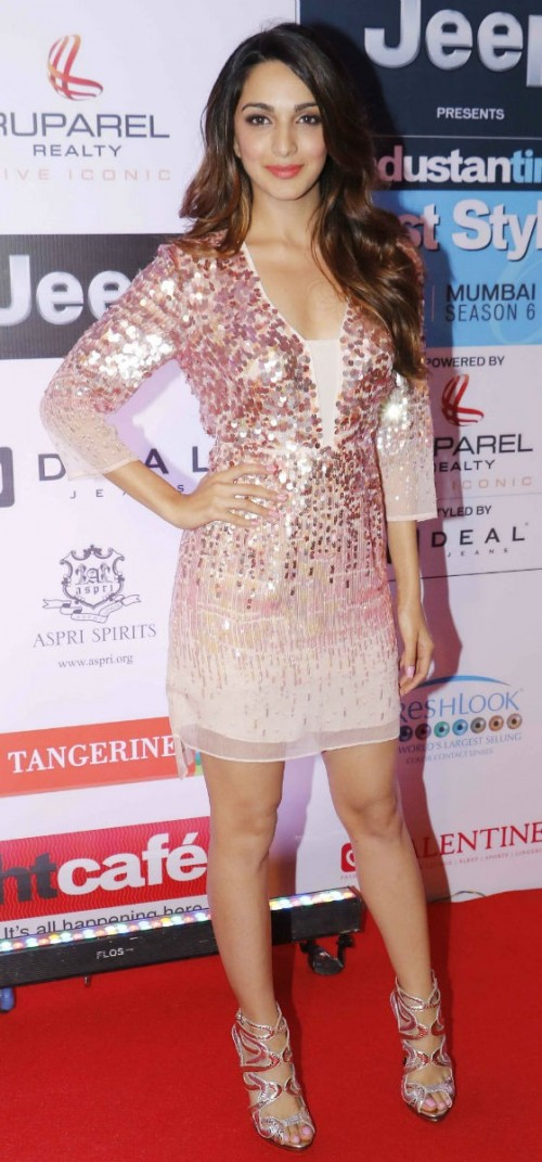 Yay or Nay? Kiara Advani wearing a sequined Halston dress and paired it with Roberto Cavalli sandals at the HT most stylish awards last night - SeenIt
