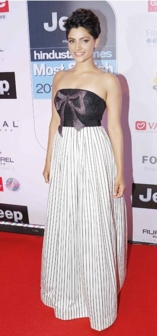 Yay or Nay? Saiyami kher wearing Daniele Carlotta gown and sans accessories at the HT most stylish awards - SeenIt