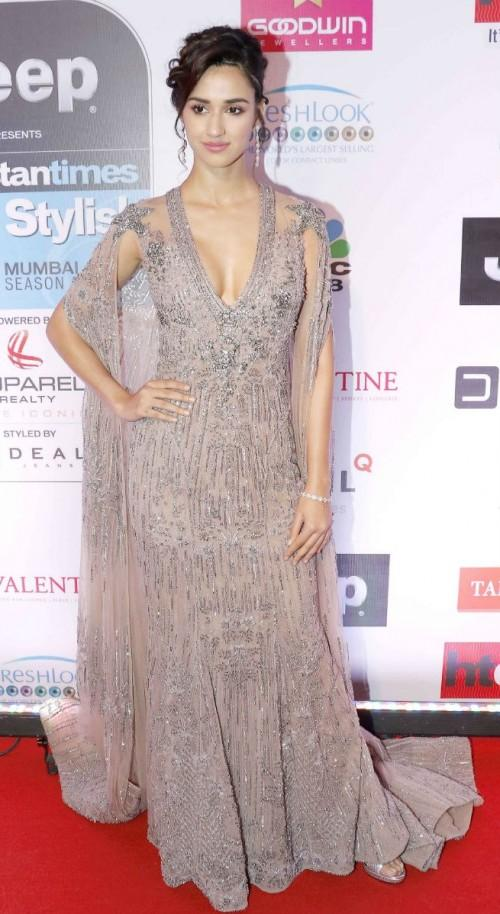 Yay or Nay? Disha Patani wearing a shimmery Falguni And Shane Peacock gown at the HT most stylish awards event last night in Mumbai - SeenIt