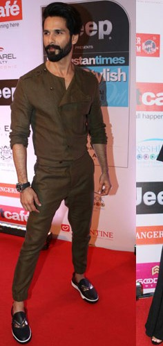 Yay or Nay? Shahid Kapoor spotted at the HT most stylish awards last night - SeenIt