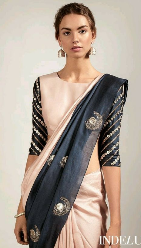 want this beige and blue saree - SeenIt