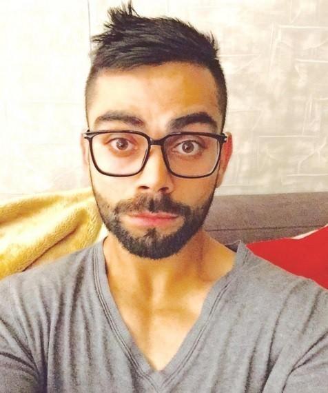 Looking for the black oversized eyewear that Virat Kohli is wearing - SeenIt