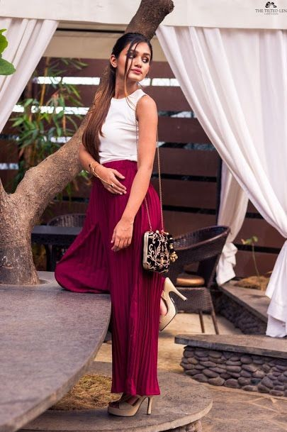 Find me these burgundy pleated palazzos. Urgent need!! TIA .. - SeenIt