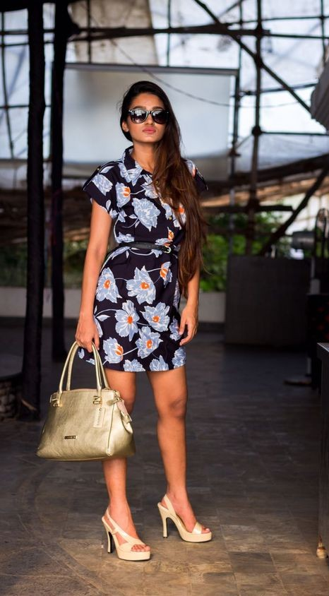 Looking for a similar grey flower print black dress. - SeenIt