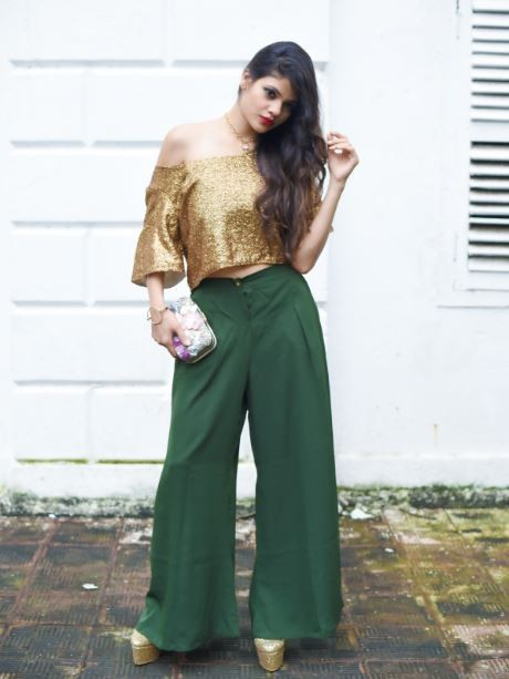 Do you know where to find these green palazzo pants? - SeenIt