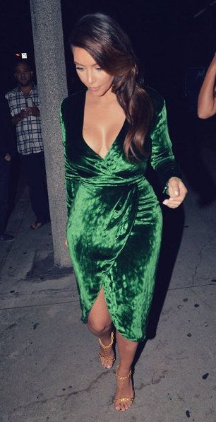 Yay or Nay? The green wrap dress that Kim Kardashian is wearing - SeenIt