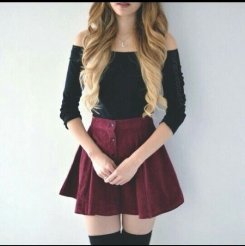 Yay or Nay?? off shoulder top and suede skirt - SeenIt