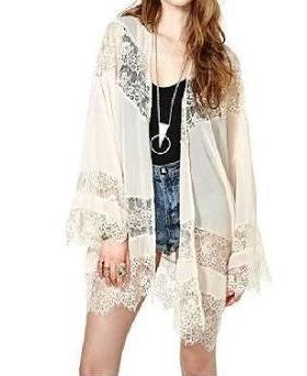 Need The white lacy kimono cardigan - SeenIt