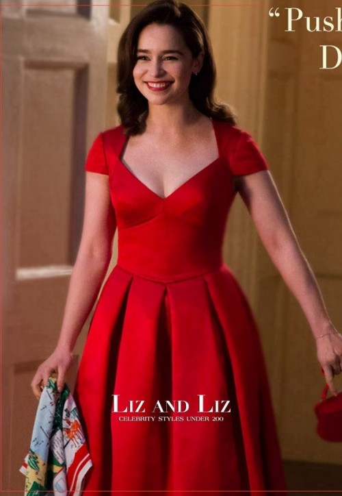 Red dress as worn by Emilia Clarke in me before you - SeenIt