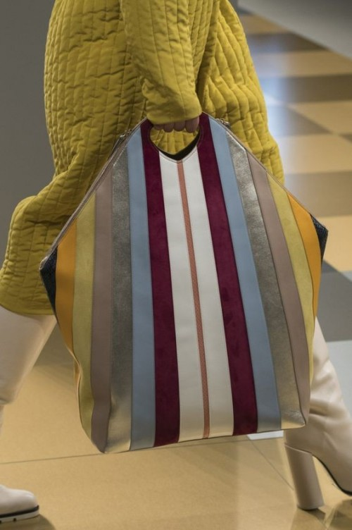 Yay or Nay? Need your view on this multi color striped leather tote bag. - SeenIt