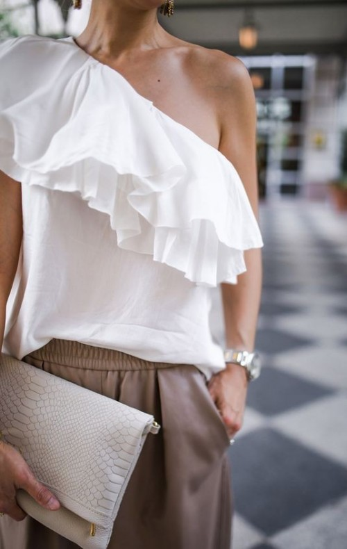 Looking for the white one-shoulder ruffle top - SeenIt