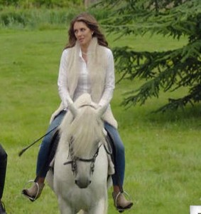 Need a similar beige fur jacket like Queen Helena Henstridge's. - SeenIt