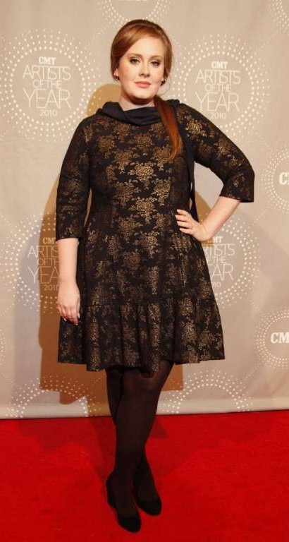 Looking for the black and gold print dress that Adele is wearing - SeenIt