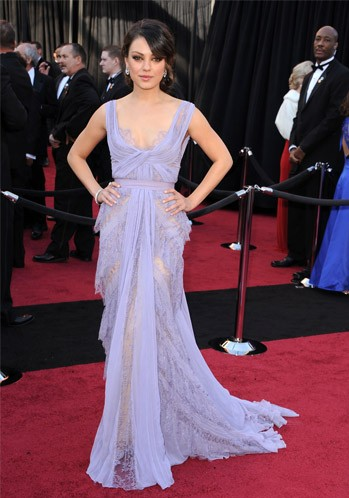 Yay or Nay? Mila Kunis looked beautiful in this lavender lace gown. - SeenIt