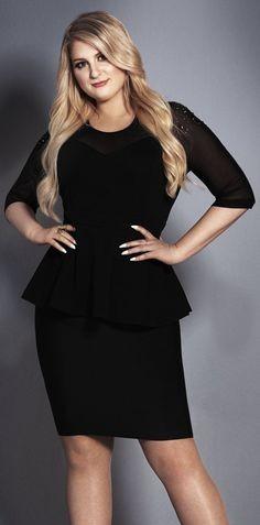Looking for the black peplum dress that Meghan Trainor is wearing - SeenIt