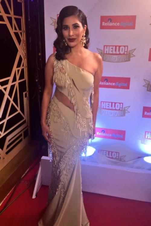 Yay or Nay? Sophie Choudry wearing a single shoulder mermaid gown at the Hello Hall of Fame awards 2017. - SeenIt