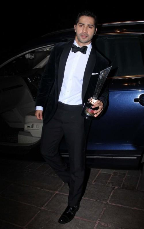 Yay or Nay? Varun Dhawan wearing a classic black tuxedo at the Hello Hall of Fame awards 2017. - SeenIt