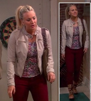 help me find penny's maroon pants and jacket please - SeenIt