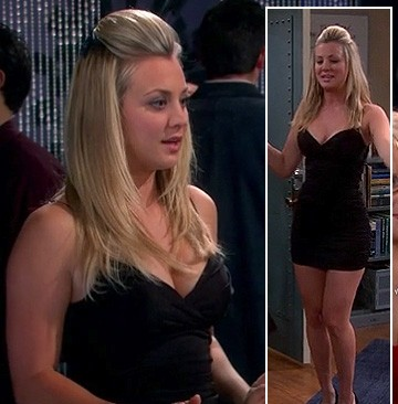 looking for a similar black tube short dress like penny is wearing - SeenIt