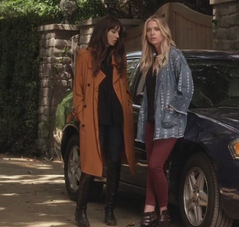 spencer's trench coat is what i am hunting online - SeenIt