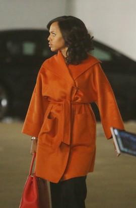 Olivia Pope's wrap style orange waterfall coat please. - SeenIt