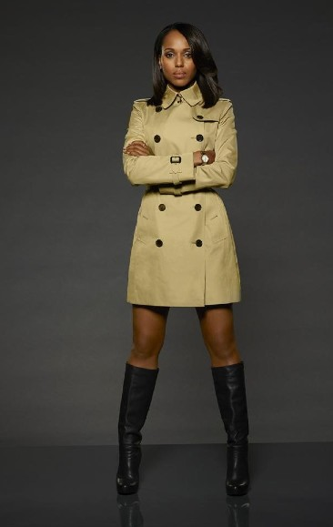 Help me recreate Olivia Pope's outfit please..beige double breasted coat and black boots. - SeenIt