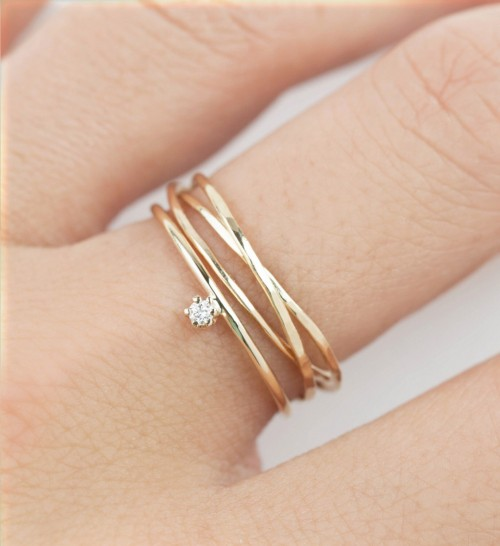 Looking for similar multi layer gold ring - SeenIt