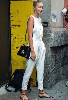 Looking for this jumpsuit that Gigi Hadid is wearing - SeenIt