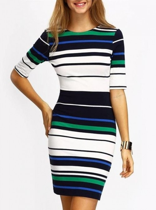 want a similar striped bodycon dress from indian stores - SeenIt