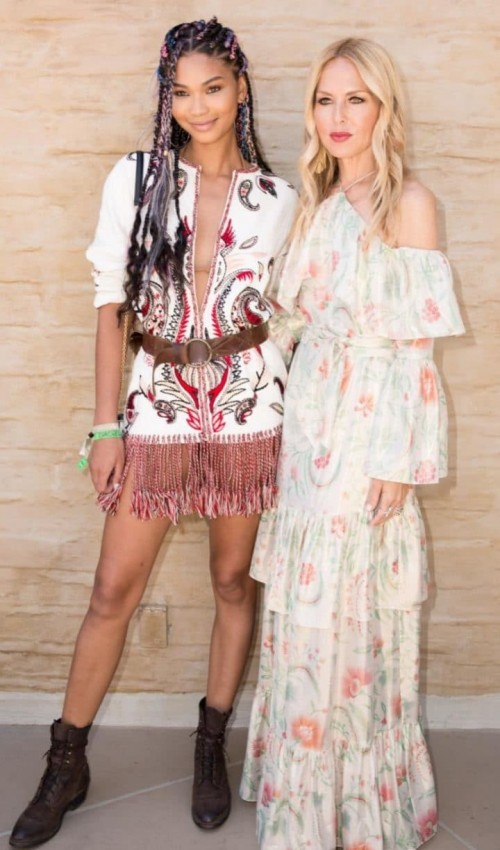 Yay or Nay? Chanel Iman wearing a decorative mini dress at the Coachella festival - SeenIt