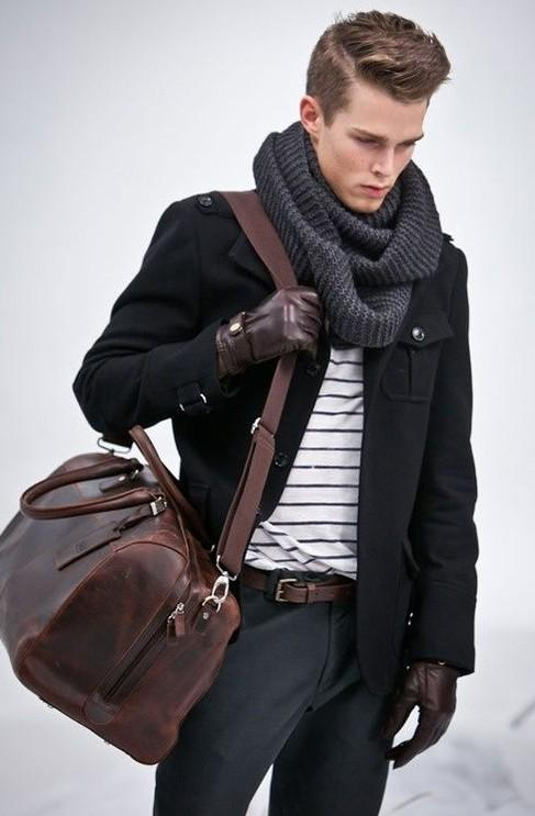 A similar knit muffler anyone? Dark or lighter grey - SeenIt