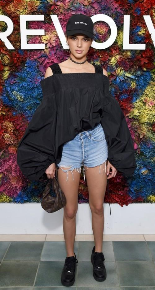 Yay or Nay? Kendall Jenner wearing a balloon fit top and shorts at the Coachella festival - SeenIt