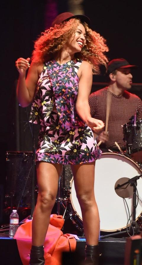 Yay or Nay? Beyonce in a printed mini dress at the Coachella festival music stage - SeenIt