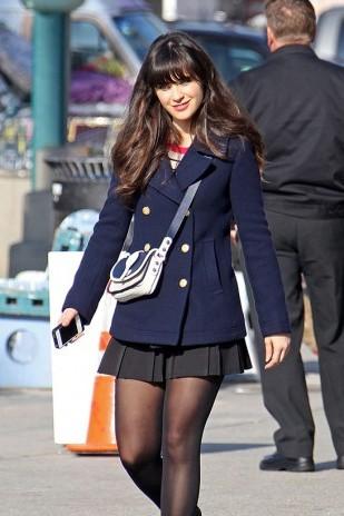 want a similar blue coat online like jess's - SeenIt