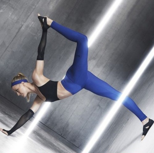 Looking for these blue tights and black wrap training shoes. Have you seenit? - SeenIt