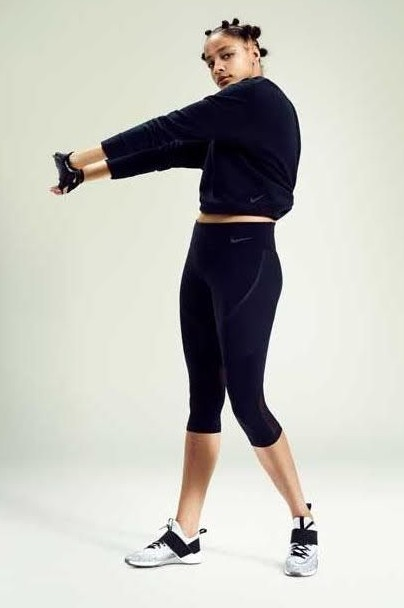 Where can I find a similar black tights and sweatshirt? - SeenIt