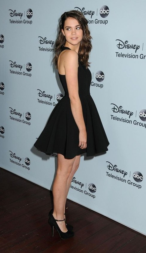 Help me find a similar black skater dress that Maia Mitchell is wearing - SeenIt